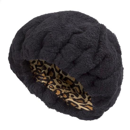 Bonnet chauffant léopard