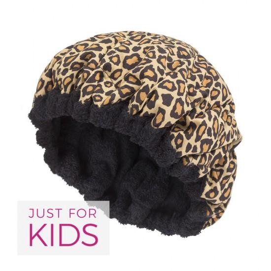 Bonnet chauffant léopard pour enfant