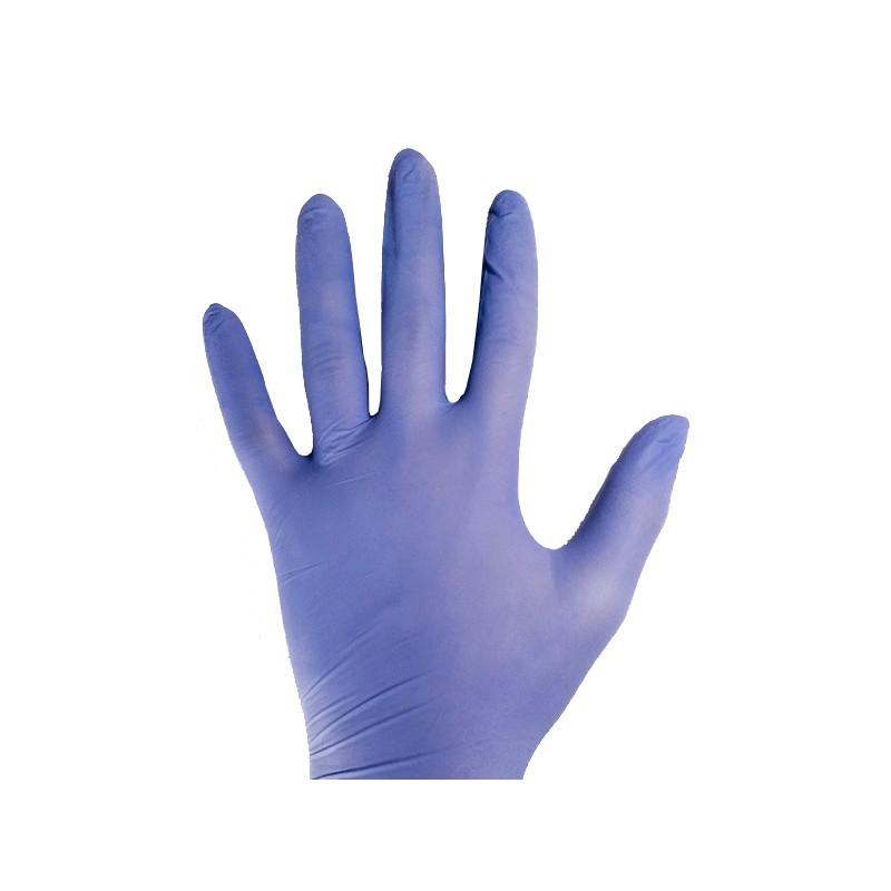 Lot de 10 paires de gants en Nitrile bleu