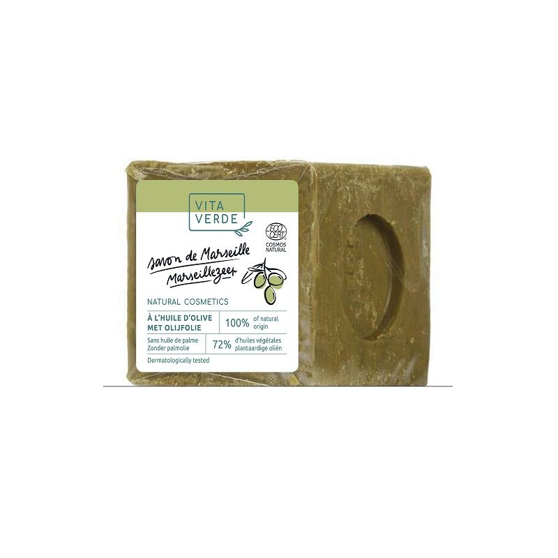 Savon de Marseille vert - 72 % huile d'olive - 300 g